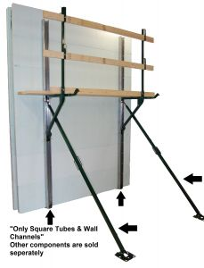 Square Tube Bracing w/10' Wall Channels - Price for 20 Sets