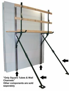 Square Tube Bracing w/12' Wall Channels - Price for 20 Sets