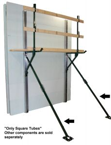 Square Tube Bracing - No Wall Channels - Price for 20 Sets